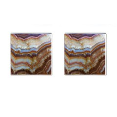 Wall Marble Pattern Texture Cufflinks (square)