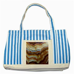 Wall Marble Pattern Texture Striped Blue Tote Bag