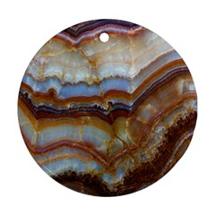 Wall Marble Pattern Texture Round Ornament (two Sides) by Nexatart