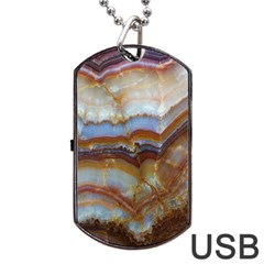 Wall Marble Pattern Texture Dog Tag Usb Flash (two Sides) by Nexatart