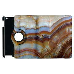 Wall Marble Pattern Texture Apple Ipad 2 Flip 360 Case by Nexatart
