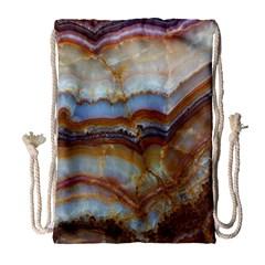Wall Marble Pattern Texture Drawstring Bag (large) by Nexatart
