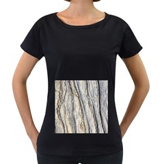 Texture Structure Marble Surface Background Women s Loose Fit T Shirt (black)