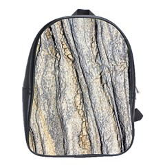 Texture Structure Marble Surface Background School Bag (large)