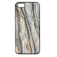 Texture Structure Marble Surface Background Apple Iphone 5 Seamless Case (black)