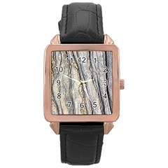 Texture Structure Marble Surface Background Rose Gold Leather Watch  by Nexatart