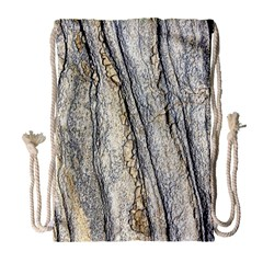 Texture Structure Marble Surface Background Drawstring Bag (large)