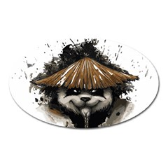 Warrior Panda T Shirt Oval Magnet by AmeeaDesign