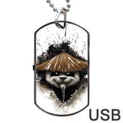 Warrior Panda T Shirt Dog Tag Usb Flash (one Side) by AmeeaDesign