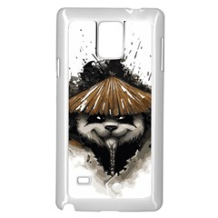 Warrior Panda T Shirt Samsung Galaxy Note 4 Case (white) by AmeeaDesign