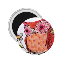 Summer Colourful Owl T Shirt 2 25  Magnets by AmeeaDesign