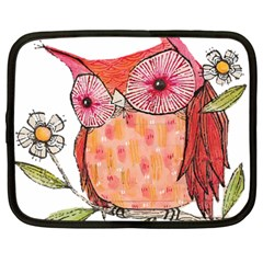 Summer Colourful Owl T Shirt Netbook Case (large) by AmeeaDesign