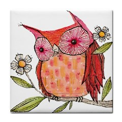 Summer Colourful Owl T Shirt Face Towel by AmeeaDesign