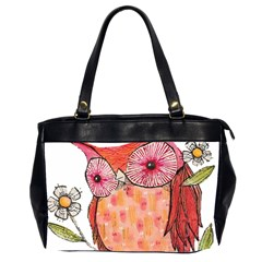 Summer Colourful Owl T Shirt Office Handbags (2 Sides)  by AmeeaDesign