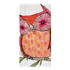 Summer Colourful Owl T Shirt Shower Curtain 36  X 72  (stall)  by AmeeaDesign