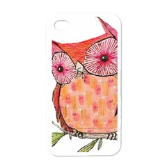 Summer Colourful Owl T Shirt Apple Iphone 4 Case (white) by AmeeaDesign