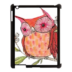 Summer Colourful Owl T Shirt Apple Ipad 3/4 Case (black) by AmeeaDesign