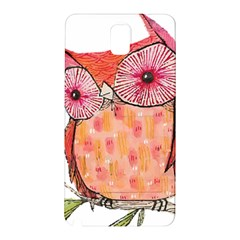 Summer Colourful Owl T Shirt Samsung Galaxy Note 3 N9005 Hardshell Back Case by AmeeaDesign
