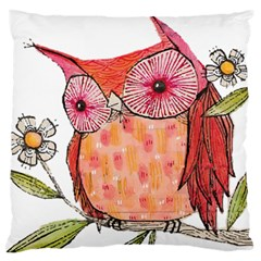 Summer Colourful Owl T Shirt Large Flano Cushion Case (two Sides) by AmeeaDesign