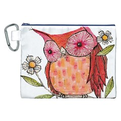 Summer Colourful Owl T Shirt Canvas Cosmetic Bag (xxl) by AmeeaDesign
