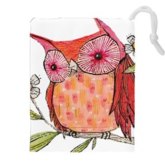 Summer Colourful Owl T Shirt Drawstring Pouches (xxl) by AmeeaDesign