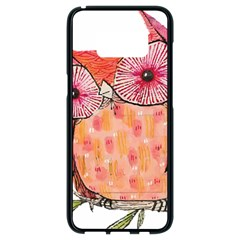 Summer Colourful Owl T Shirt Samsung Galaxy S8 Black Seamless Case by AmeeaDesign