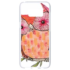 Summer Colourful Owl T Shirt Samsung Galaxy S8 White Seamless Case by AmeeaDesign