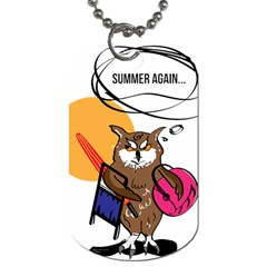 Owl That Hates Summer T Shirt Dog Tag (two Sides) by AmeeaDesign