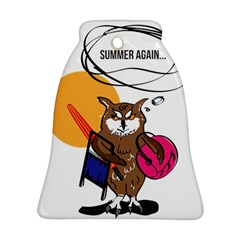 Owl That Hates Summer T Shirt Ornament (bell) by AmeeaDesign
