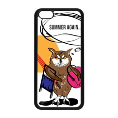 Owl That Hates Summer T Shirt Apple Iphone 5c Seamless Case (black) by AmeeaDesign