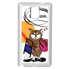 Owl That Hates Summer T Shirt Samsung Galaxy Note 4 Case (white) by AmeeaDesign