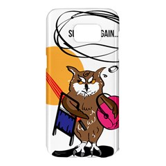 Owl That Hates Summer T Shirt Samsung Galaxy S7 Edge Hardshell Case by AmeeaDesign