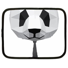 Office Panda T Shirt Netbook Case (xxl)  by AmeeaDesign