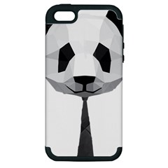 Office Panda T Shirt Apple Iphone 5 Hardshell Case (pc+silicone) by AmeeaDesign