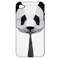 Office Panda T Shirt Apple Iphone 4/4s Hardshell Case (pc+silicone) by AmeeaDesign