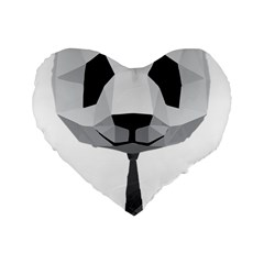 Office Panda T Shirt Standard 16  Premium Flano Heart Shape Cushions by AmeeaDesign
