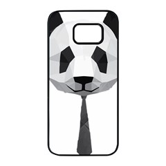 Office Panda T Shirt Samsung Galaxy S7 Edge Black Seamless Case by AmeeaDesign