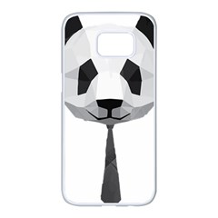 Office Panda T Shirt Samsung Galaxy S7 Edge White Seamless Case by AmeeaDesign