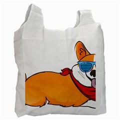 Corgi With Sunglasses And Scarf T Shirt Recycle Bag (one Side) by AmeeaDesign