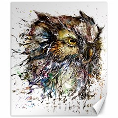 Angry And Colourful Owl T Shirt Canvas 8  X 10  by AmeeaDesign