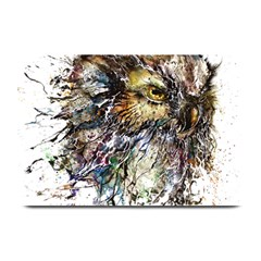 Angry And Colourful Owl T Shirt Plate Mats by AmeeaDesign