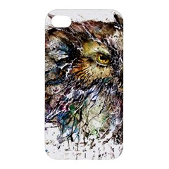 Angry And Colourful Owl T Shirt Apple Iphone 4/4s Premium Hardshell Case by AmeeaDesign