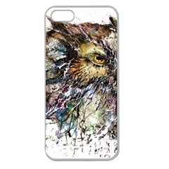 Angry And Colourful Owl T Shirt Apple Seamless Iphone 5 Case (clear) by AmeeaDesign