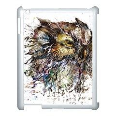 Angry And Colourful Owl T Shirt Apple Ipad 3/4 Case (white) by AmeeaDesign