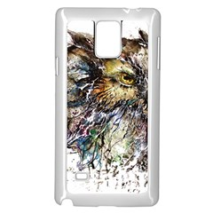 Angry And Colourful Owl T Shirt Samsung Galaxy Note 4 Case (white) by AmeeaDesign