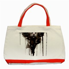Angry Cat T Shirt Classic Tote Bag (red) by AmeeaDesign