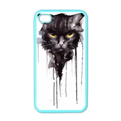 Angry Cat T Shirt Apple Iphone 4 Case (color) by AmeeaDesign