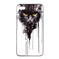 Angry Cat T Shirt Apple Iphone 4/4s Seamless Case (black) by AmeeaDesign