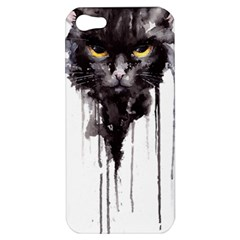 Angry Cat T Shirt Apple Iphone 5 Hardshell Case by AmeeaDesign