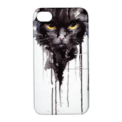 Angry Cat T Shirt Apple Iphone 4/4s Hardshell Case With Stand by AmeeaDesign